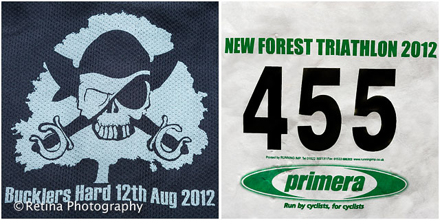 Bucklers Hard New Forest Triathlon 2012 Logo and Competitor Number