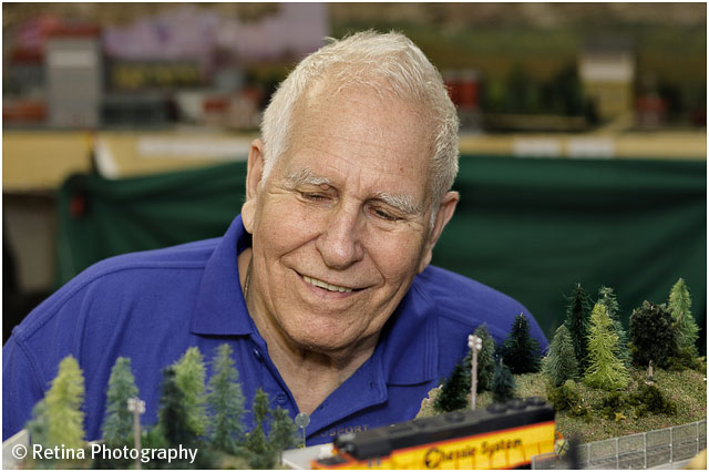 Portrait of Model Train Enthusiast