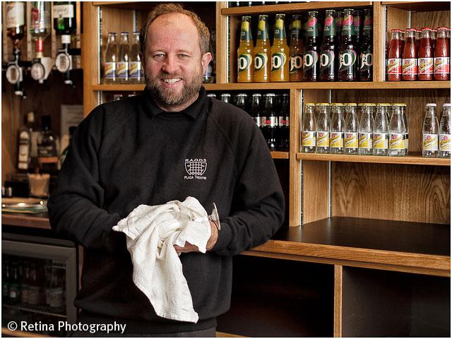 Portrait of Romsey Plaza theatre Barman