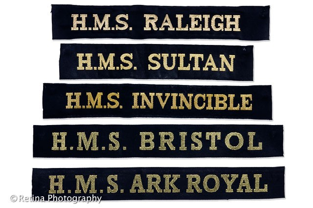 Royal Naval Cap Tallies