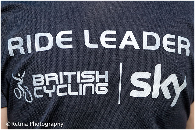 Sky Ride Leader T Shirt With British Cycling Logo