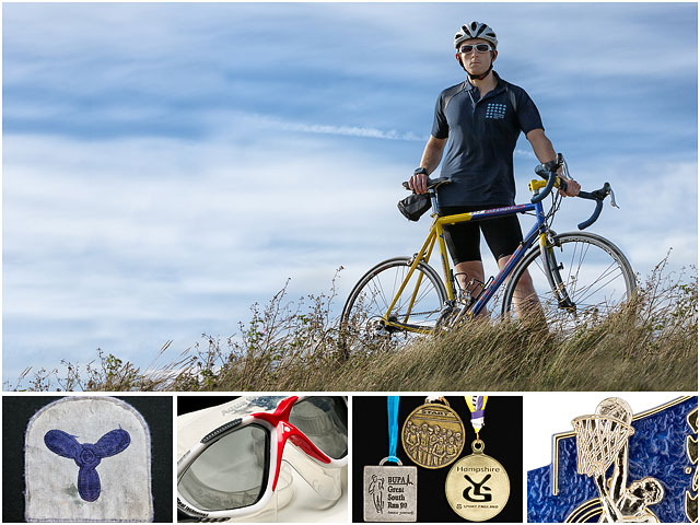 Photo Montage Of Triathlon Competitor For Weekend Passions Editorial Introduction