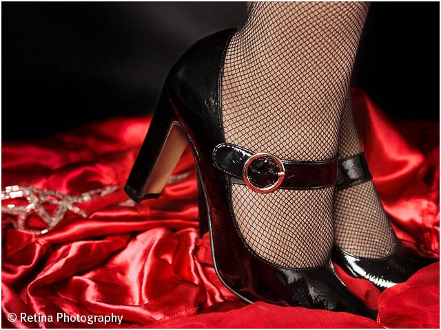 Burlesque Performer Black Shoes