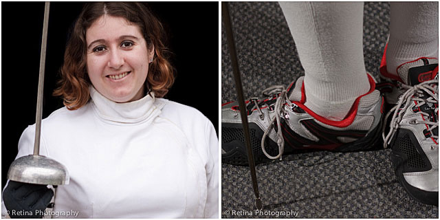 Female Fencer With Close Up Of Footwear