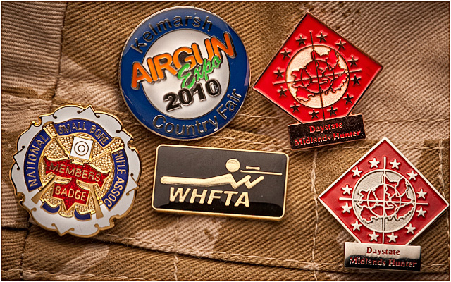 Hunter Field Target Metal Badges