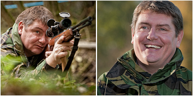 Hunter Field Target Shooter Portraits