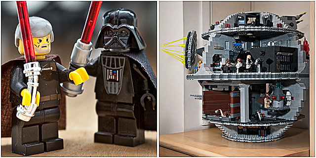 Lego Star Wars Death Star Luke Skywalker And Darth Vader