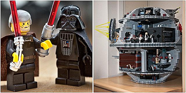 Lego Star Wars Death Star Luke Skywalker And Darth Vader