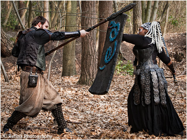 Live Action Role Play Larp Male And Female Play Fight