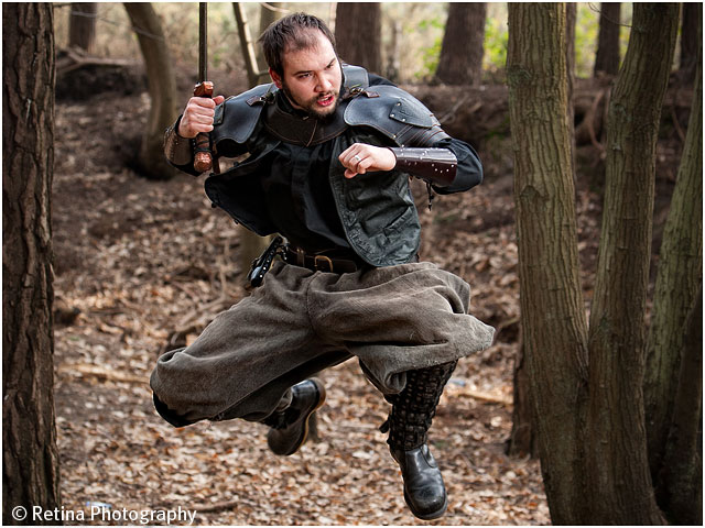 Live Action Role Play Larp Priest Leaps Into Action