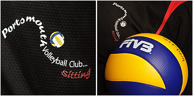 Portsmouth Sitting Vollyball Club Shirt And Ball