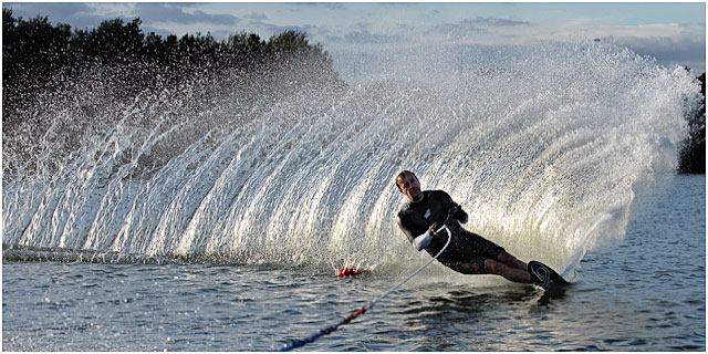 Waterskier On The Turn