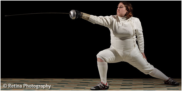 Weekend Passions Editorial Female Fencer Lunging