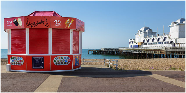 Melodys Ice Cream Kiosk Next To South Parade Pier Southsea