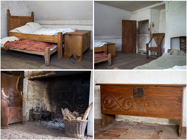 Inside Reconstructed 17Th Century Flint And Brick Cottage