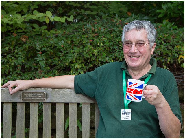 Portrait Of Weald And Downland Open Air Museum Volunteer Drinking Tea