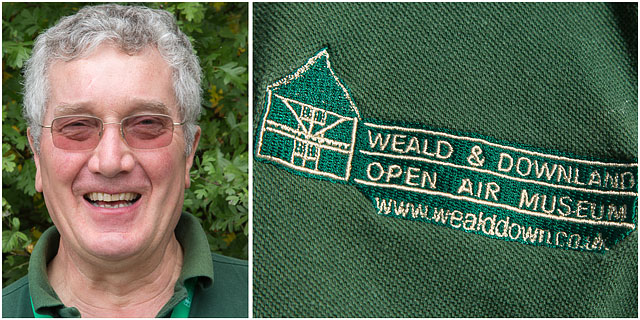 Weald And Downland Polo Shirt Logo With Portrait Of Volunteer