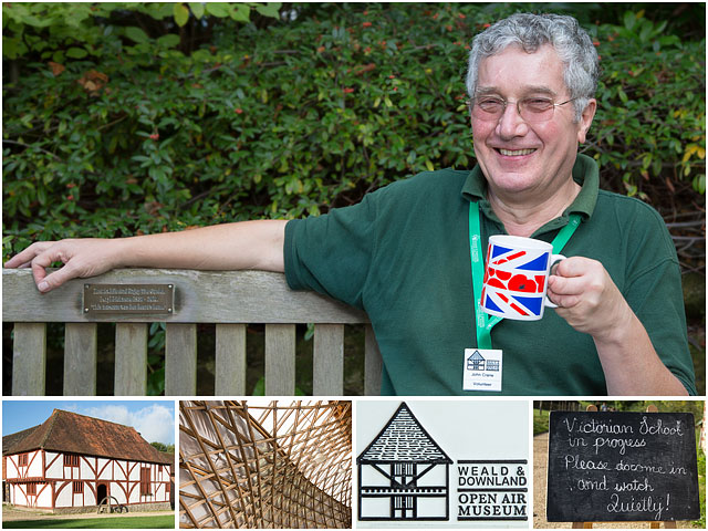 Weekend Passions Editorial Montage Weald Downland Museum Volunteer