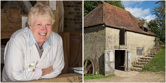 Working 17Th Century Watermill From Lurgashall With Portrait Of Volunteer