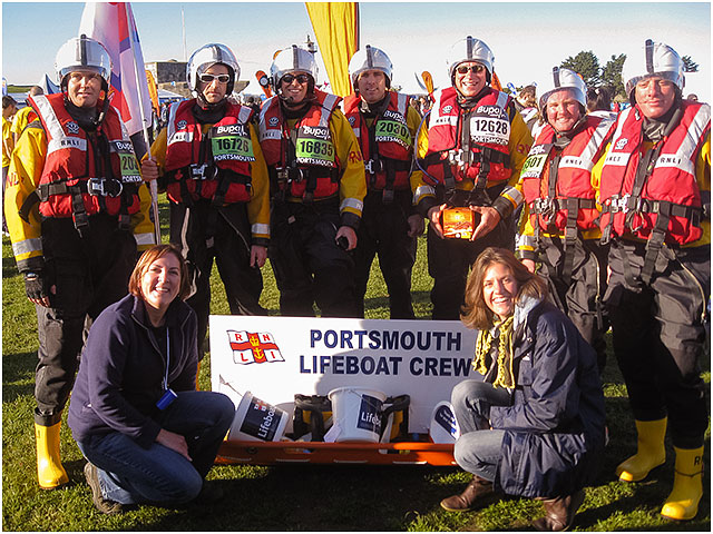 RNLI supporters put trainers to tarmac in Portsmouth for the Bupa Great South Run