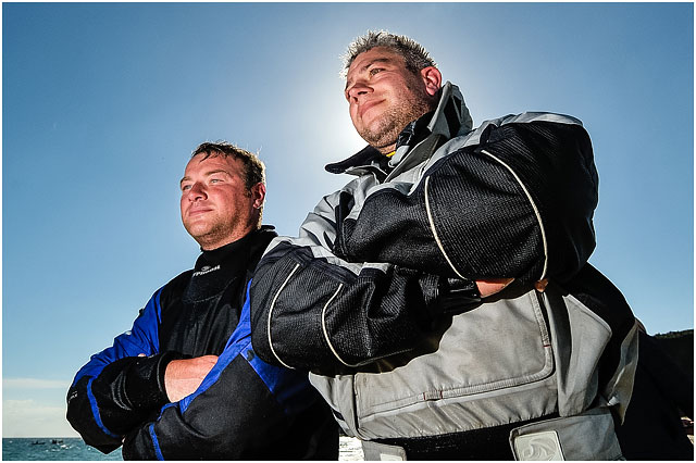 Backlit Portrait Of Portsmouth Zapcat Racing Team