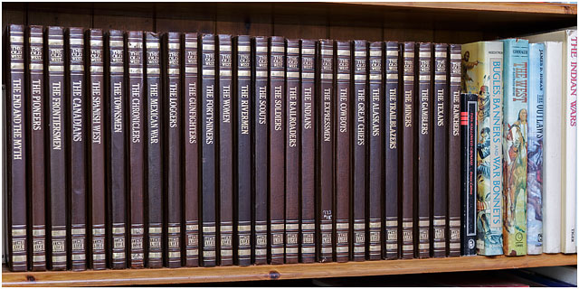 Collection Of Time Life The Old West Books On Bookshelf