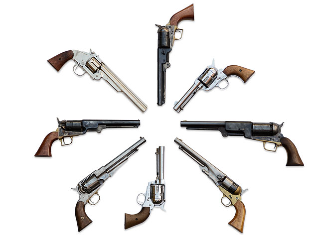 Collection Of Western Hand Guns From Around 1850