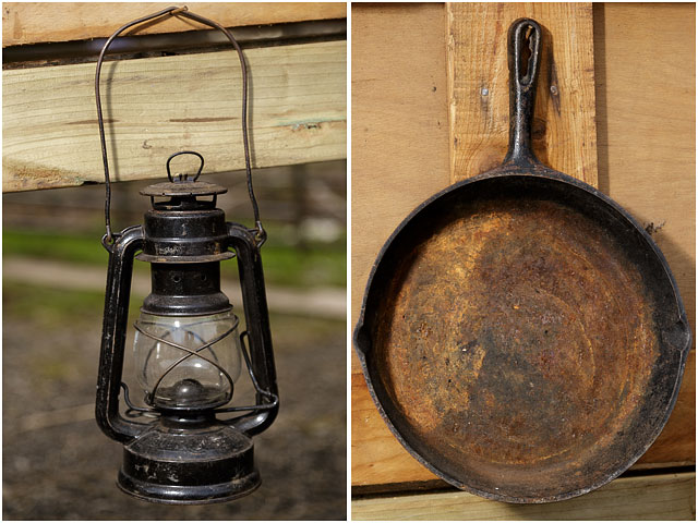 Wild West Tilly Lamp And Frying Pan