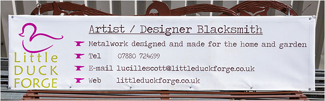 Artist Designer Blacksmith Little Duck Forge External Sign