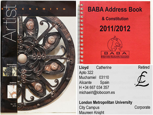 British Artist Blacksmiths Association Magazine And Address Book