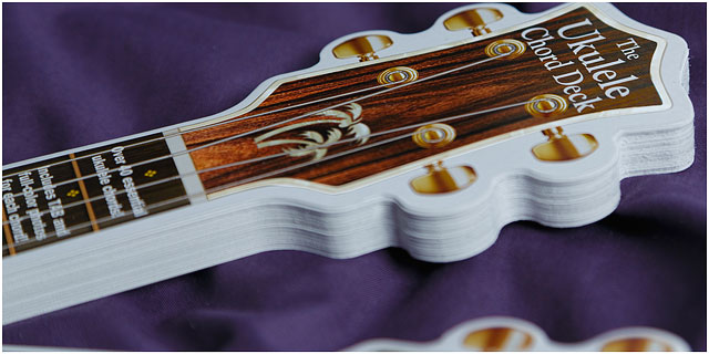 Play In A Day Ukulele Cardboard Chord Deck