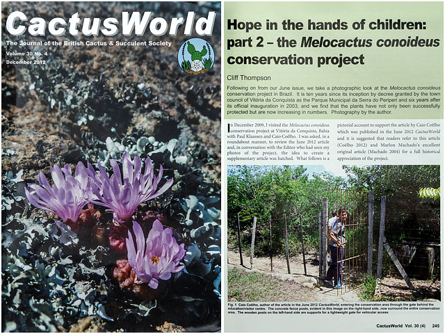 Cactus World Magazine Brazilian Conservation Project Article