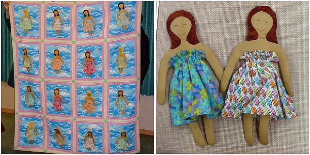 Fabric Quilt Dolls
