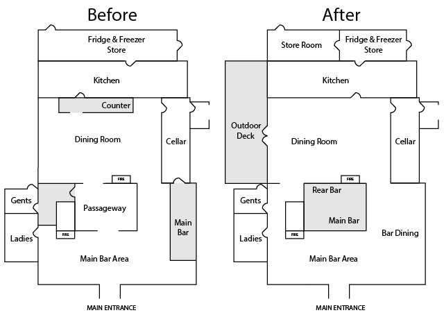 Fox And Hounds Denmead Public House Community Ownership Cooperative Simplified Layout Plans