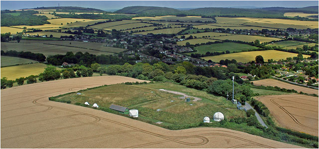 Aerial View Of Hampshire Astronomical Group Site White Telescope Domes
