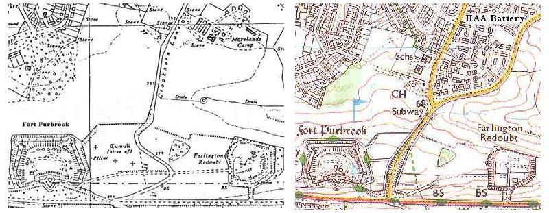 Old Maps Hampshire Anti Aircraft HAG