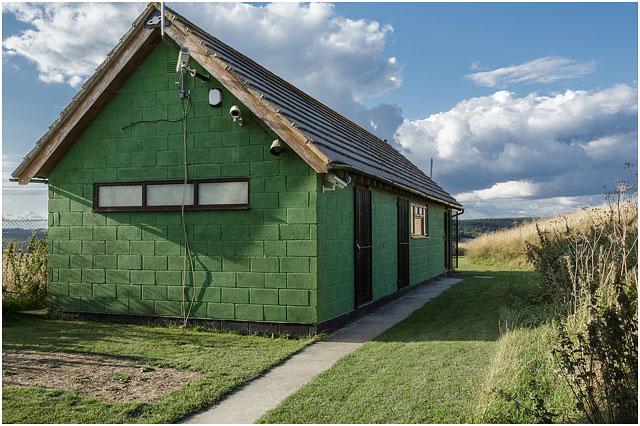 Exterior View Hampshire Astronomical Group Clubhouse Green Summer Sky 2014