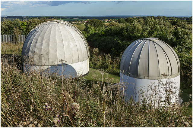 Hampshire Astronomical Group 5 Five 7 Seven Inch White Domes South Down Landscape View