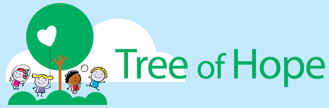 Tree of hope children's charity banner