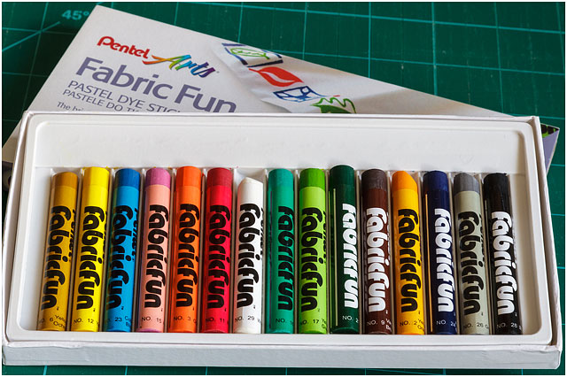 Various Coloured Fabric Pastels In Plastic Presentation Box