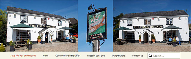 Fox Hounds Pub Public House Denmead Website Banner