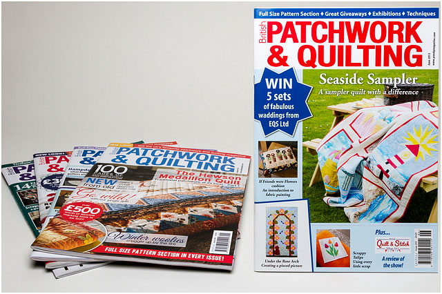 Seaside Sampler Front Cover On Patchwork And Quilting Magazine