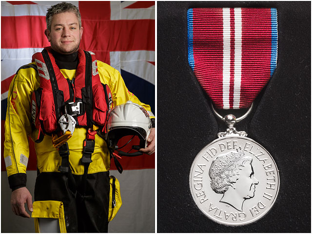 proud-Portsmouth-RNLI-station-volunteer-with-queens-jubilee-medal