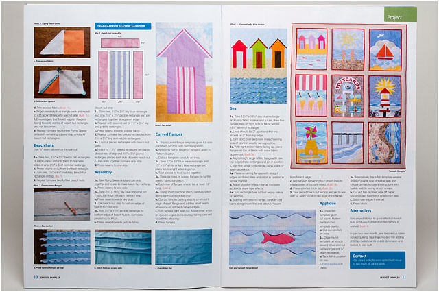 Seaside Sampler Details Double Page Spread For Patchwork And Quilting Magazine