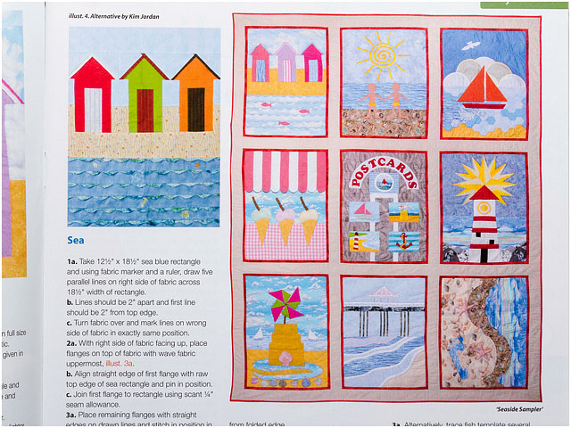 Seaside Sample Panel Details For Patchwork And Quilting Magazine