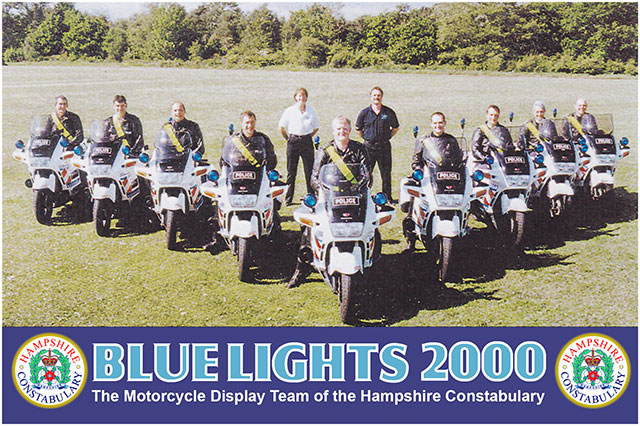 Hampshire Constabulary Blue Lights Motorcycle Display Team