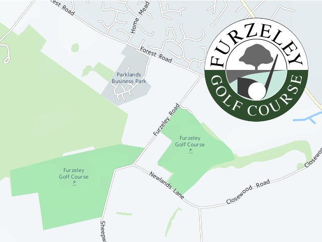 Furzeley Golf Club Denmead Hampshire UK Logo Map