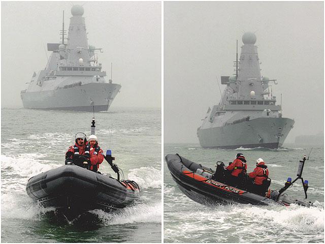 Portsmouth MOD Police RHIB Boat HMS Daring