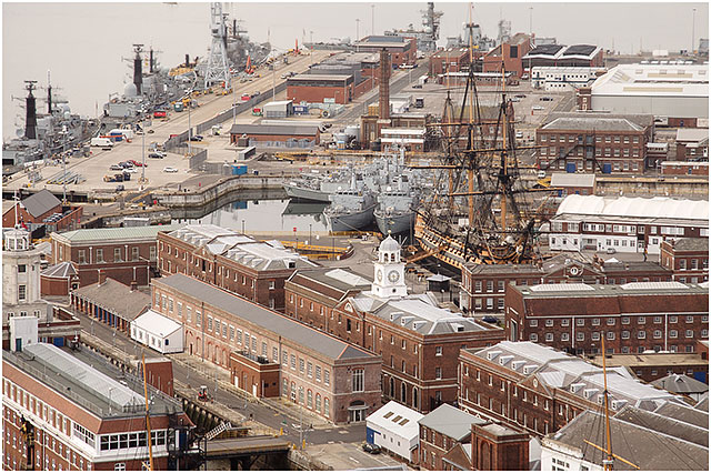 Aerial View Portsmouth Dockyard 2006
