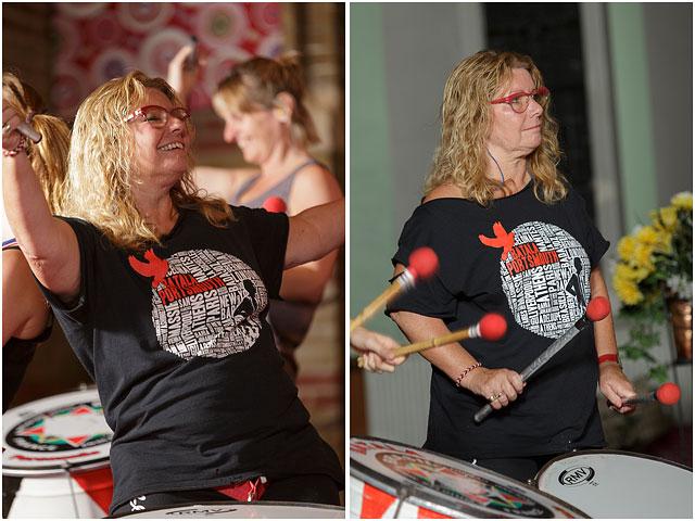 Batala Portsmouth Portrait Female Dobra Drummer